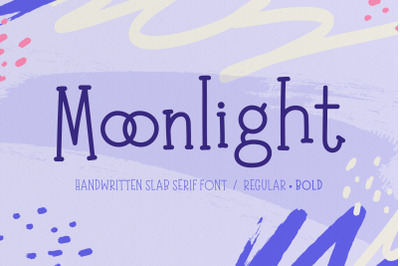 Moonlight | Handwritten Slab Serif Font
