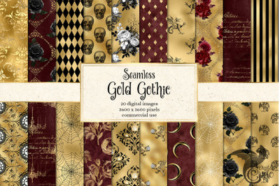Gold Gothic Digital Paper