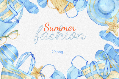 Summer fashion clipart