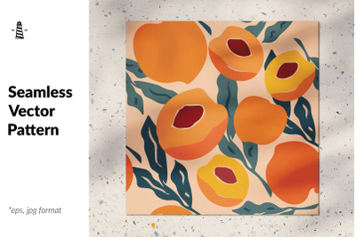 Abstract peaches seamless pattern