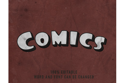Comics Text Effect Comic Editable Font Color Style Poster