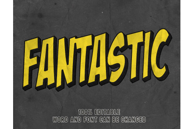 Fantastic Text Effect Comic Editable Font Color Style Poster