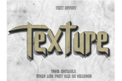 Texture Text Style Effect Editable Font Paper Texture  Style Vintage