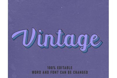 Vintage Text Effect Comic Editable Font Color Style Poster