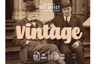 Vintage Solid Text Effect Bold Product
