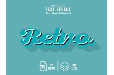 Retro Text Effect Template Editable ice