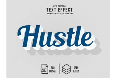 Hustle Blue Text Effect Template Editable