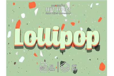 Lillipop Candy Text Effect Template Editable