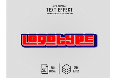 Logotype Text Effect Template Editable