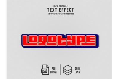 Logotype Text Effect Template Editable