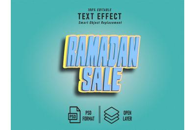 Ramadan Sale Text Effect Template Editable