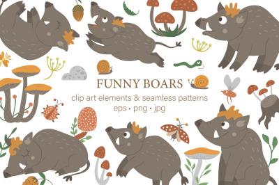 Funny Boars