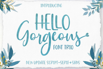 Hello Georgeous Script Font Trio