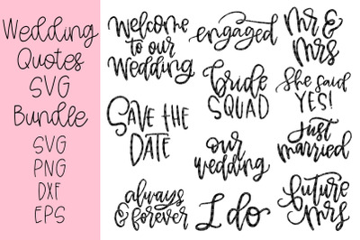 Wedding Sayings Bundle!