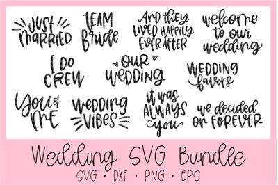 Cute Wedding SVG Bundle