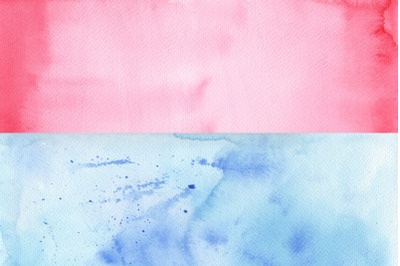 Two watercolor paper textures