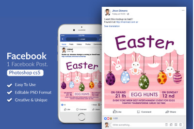 Easter Festival Facebook Post