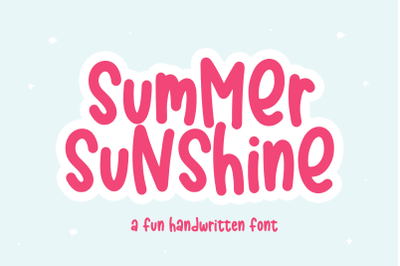 Summer Sunshine - Fun Handwritten Font