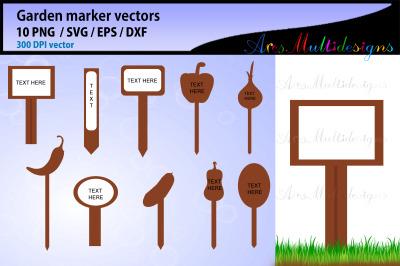 Garden marker SVG