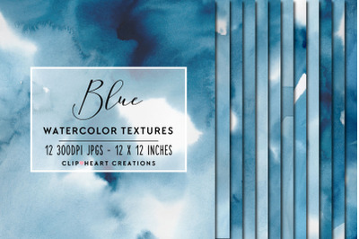 Blue Watercolor Digital Papers