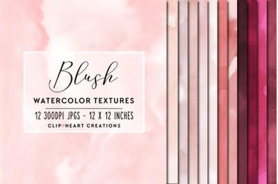 Blush Watercolor Digital Papers