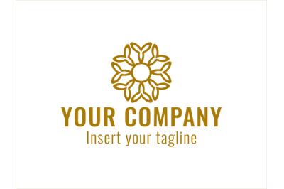 Logo Gold Vector Eight Y Circular Motif