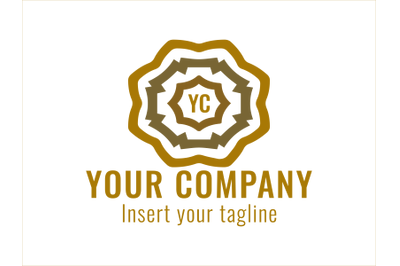Logo Gold Vector with Three Colors
