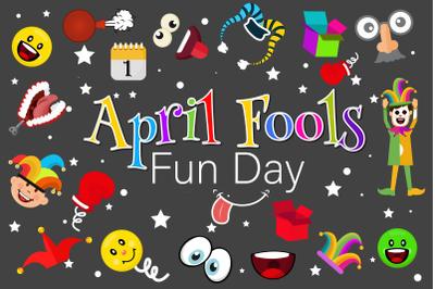 April Fools Fun Day Illustration