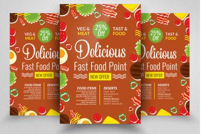 Delicious Food Restaurant Flyer/Poster
