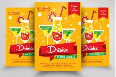 Cold Drinks & Beverages Shop Flyer