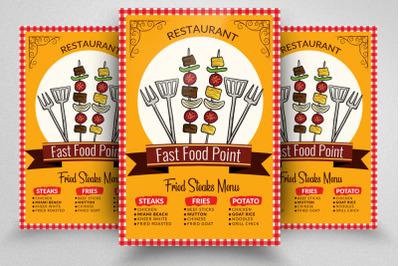 Food Restaurant Retro Flyer Template