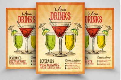 Fruit Juice Menu Flyer/Poster