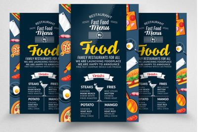 Food Restaurant Menu Flyer Template