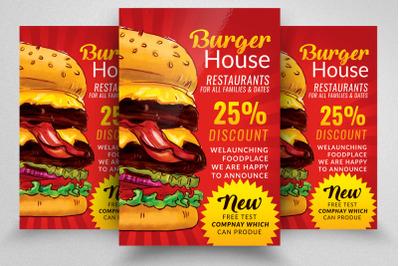 Fast Food Restaurant Discount Offer Flyer
