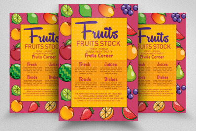 Fresh Fruits Store Flyer/Poster