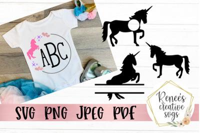 Unicorn Monogram Set
