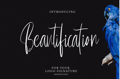 Beautification - Signature Font