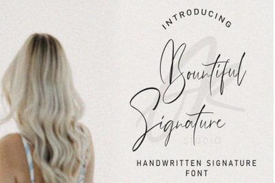 Bountiful Signature Font