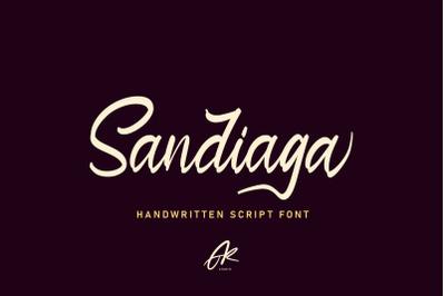Sandiaga   Modern Script Font