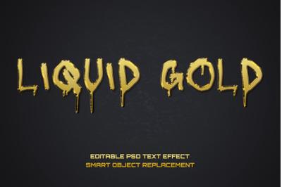 Liquid Gold Font Effect Editable PSD