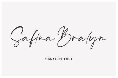 Safina Bralyn | Signature Font