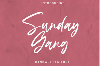 Sunday Gang | Handwritten Font