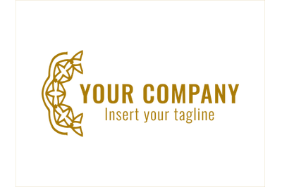 Logo Gold Vector to the Left of Text