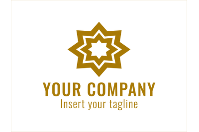 Logo Gold Vector Ornament Own Star