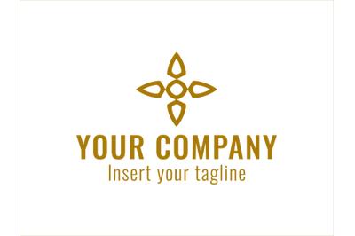 Logo Gold Vector Ornament Windmill