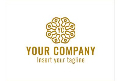 Logo Gold Vector Ornament Mascot