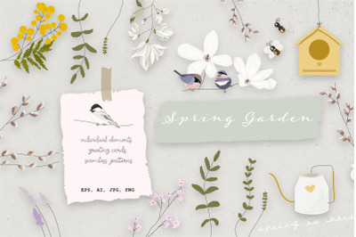Spring Garden cute illustrations