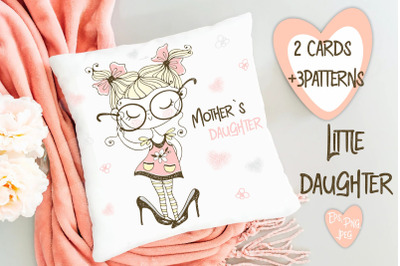 Little daughter Digital Cliparts with Cute Girls Svg Png