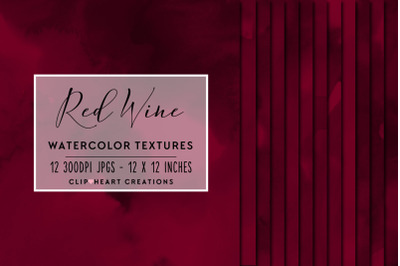Red Wine Watercolor Papers