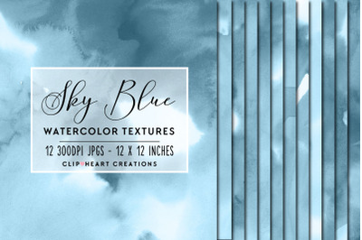 Sky Blue Watercolor Papers